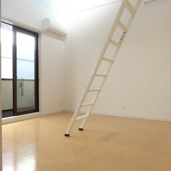 はしごを使わないときは右上のあそこに
