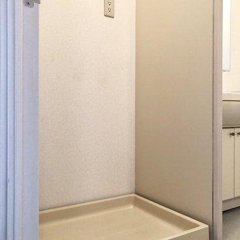 まずは洗濯機置場がありました。※写真は前回募集時のものです