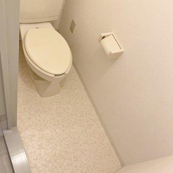 トイレはちょっとした棚を置けるスペースがありますよ。