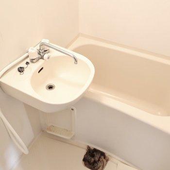 浴室もミニマム(※写真は清掃前のものです)