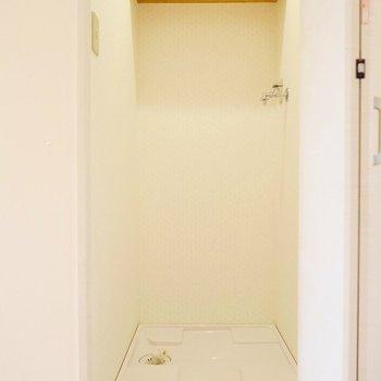 洗濯機置場は隠せることが嬉しいですね◎