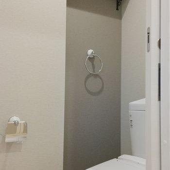 アイアンの金具が可愛いトイレもぜんぶ新品!