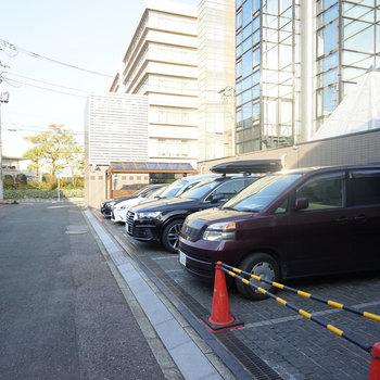 駐車場はこちら。