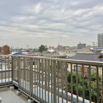 住宅街を上から見下ろす感じ。※写真は前回募集時のものです