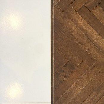 床のデザインが1Rなのに違う、というこだわり。