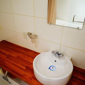 洗面台までかわいい♪※画像は別室です