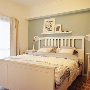 寝室、ベッドが置ければ十分です!