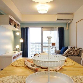 ポップな家具が似合う空間に。