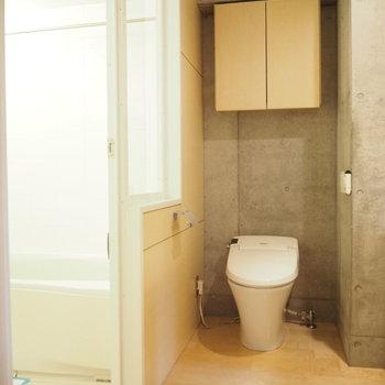 2階のサニタリー。トイレは1階にもあるんです!