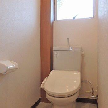 トイレはこんな感じ。洗面台から振り返ると、この景色です。