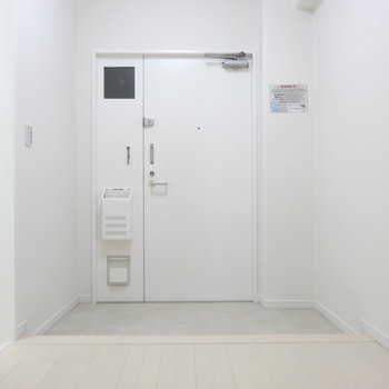 玄関、間口ひろびろ!シューズボックスはありません