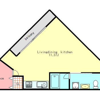 三角形のお部屋