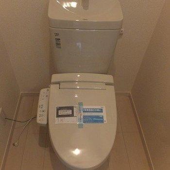 トイレも個室です。※写真は前回募集時のものです。