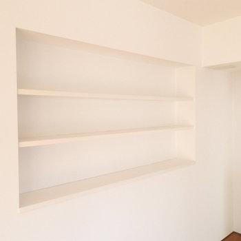 こんな造作棚も。何置きましょう?