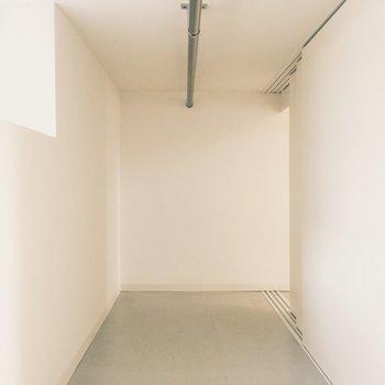 リビングの階段の後ろ(バスルームの下)にある収納