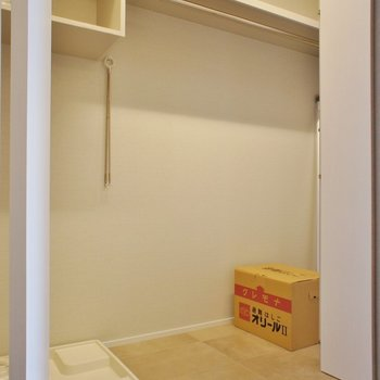 収納、洗濯機置き場は廊下に※写真は別室(301)