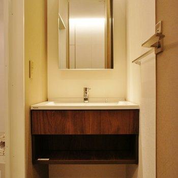 高級感のある洗面台※写真は別室(103)