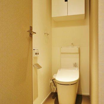 トイレは個室で収納も※写真は別室(103)