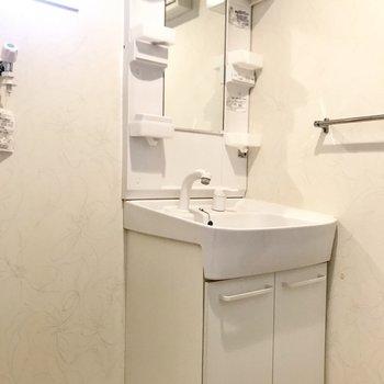 スタンダードタイプの洗面台(※写真は清掃前のものです)