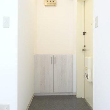玄関にはシューズボックスあります。