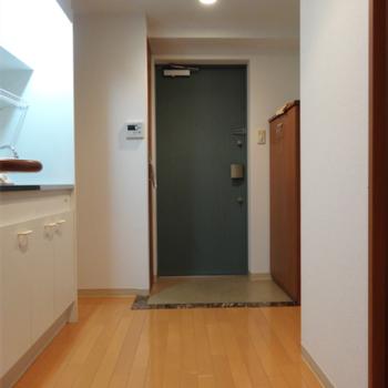 DK+玄関。テーブル置ける広さではないかな