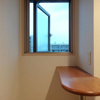 このカウンター+窓がかわいいいい