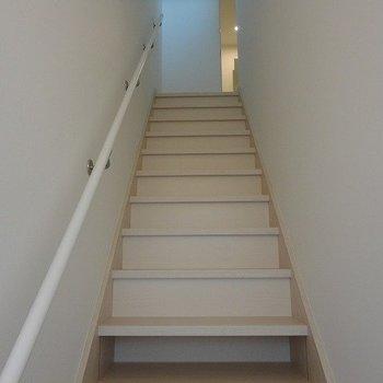 一階から見上げると…※写真は別部屋です。