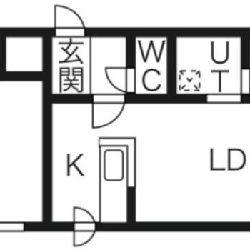 縦長1LDKの間取り  8.4×2K×5.5