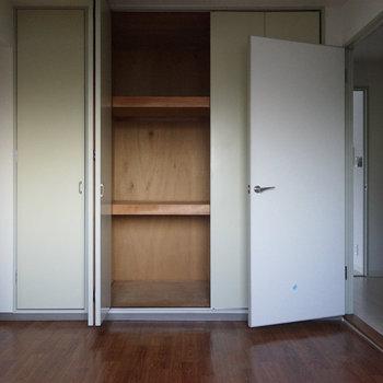 収納もそれぞれの寝室に◎※写真は工事前です