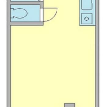 26平米ゆったりめのワンルームです。