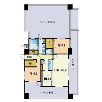最上階に1部屋のみの贅沢空間。