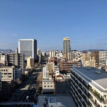 都会を感じられる眺望。