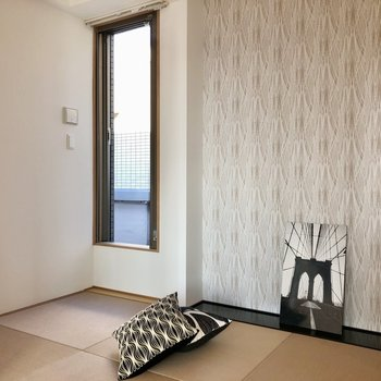 琉球畳の和室。ついゴロゴロしたくなるな〜。(※写真の小物等は見本です)