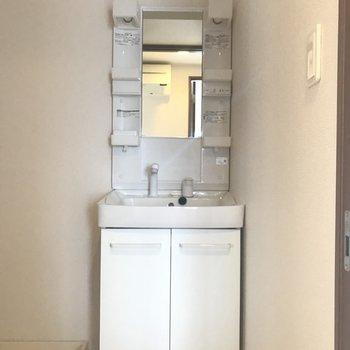 ちょっと小さめですが独立洗面台完備!