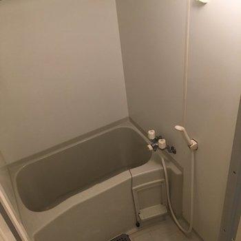 バスルームは浴室乾燥機付き!雨の日も大丈夫〜※写真は2階の同間取り別部屋です