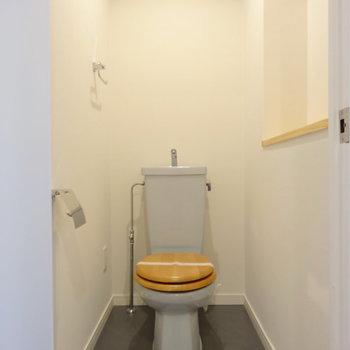 木製便座がとっても可愛いトイレ◎(※写真は前回掲載時のものです)