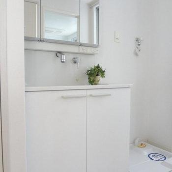 すっきりとした洗面台です。※写真は別室です