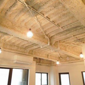 天井のざっくり感がたまりませんね※写真は同間取りの別部屋です