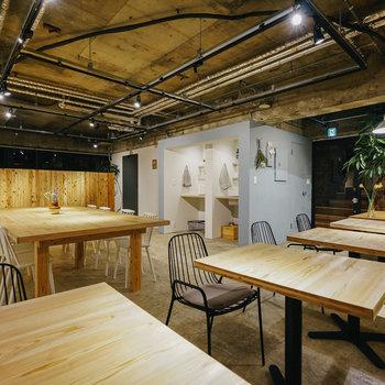 カフェのような空間。