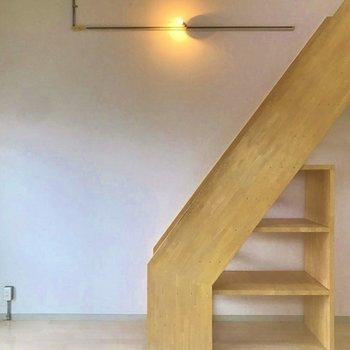 階段下には収納スペース。