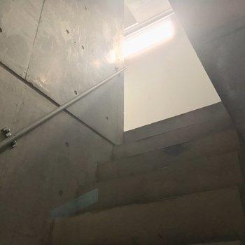 1階の階段から。やっぱ地下室っぽいよね※写真はクリーニング前です