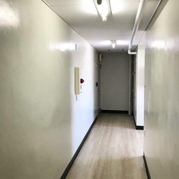 共用部の廊下からレトロ感が漂います