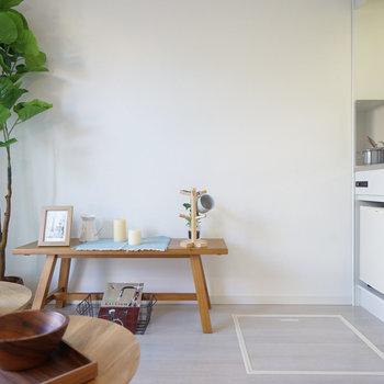 シンプルな家具がお似合い〇