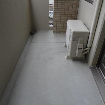 バルコニーは広々。洗濯物がたまってもちゃんと干せそう。※写真は別室です。