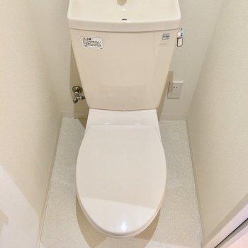 トイレはこんな感じ。丸みがカワイイ