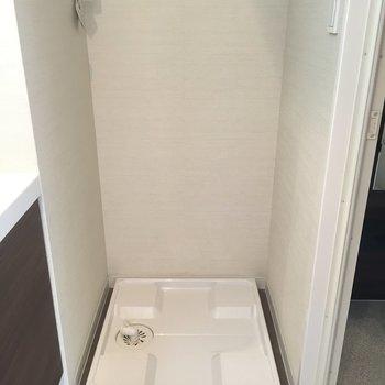 洗濯機はココに