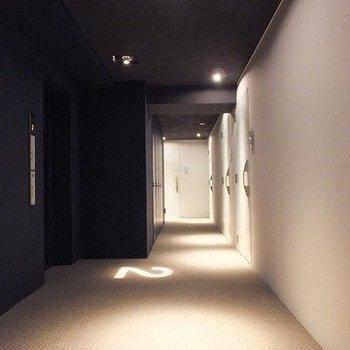 雰囲気のいい内廊下です。