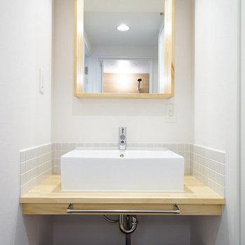 洗面台は造作の可愛いやつ※写真はイメージです