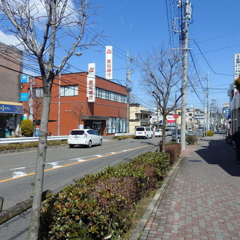 鳴海駅までは一本道なのが良いですね