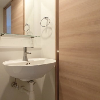 清潔な洗面台※写真は前回掲載時のものです。